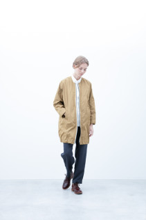 Coat / S6_N012C : POCT-U 33,500yen+tax br; Shirt / S6_N058S : OSSH 19,000yen+tax br; Pants / S6_N062P : WDPT 19,500yen+tax br; Shoes / S6_F111R : REGALIA DUDA-L 98,000+tax