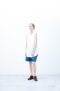 Tank top / S6_N163T : RTTT 7,500yen+tax br; Short Pants / S6_N092P : DSSL 18,000yen+tax br; Shoes / S6_F111R : REGALIA DUDA-L 98,000+tax
