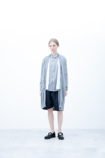 Coat / S6_N034C : PNCD 24,000yen+tax br; Shirt / S6_N173S : FSSH 18,000yen+tax br; Short Pants / S6_N092P : DSSL 18,000yen+tax br; Shoes / S6_F1220R : ORDINARIA NOBLE 59,000yen+tax