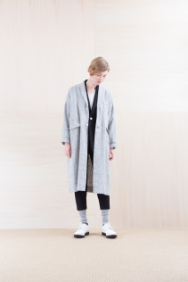 Coat_ NA15-C61 LHCT 32,000yen+tax br; Jacket_ NA15-J153 NTJK 48,000yen+tax br; Cut&Sewn_ NA15-T52 BRRT 10,500yen+tax br; Pants_ NA15-P151 1TSL 28,500yen+tax br; Sox_ FA15041 LANA01 3,300yen+tax br; Shoes_ FA15071 AGGRESSIA DURA-L 44,000yen+tax