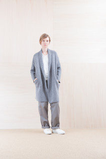 KnitCoat_ NA15-K203 BSCK 46,500yen+tax br; Cut&Sewn_ NA15-T52 BRRT 10,500yen+tax br; Pants_ FA15021 LAT 19,500yen+tax