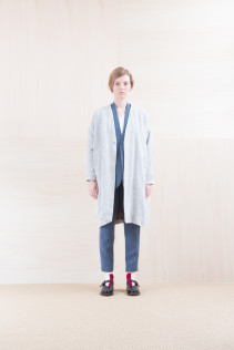 Coat_ NA15-C121 VNCT 38,500yen+tax br; Jacket_ NA15-J94 JKCT 36,000yen+tax br; Cut&Sewn_ NA15-T52 BRRT 10,500yen+tax br; Pants_ NA15-P91 SLMPT 21,500yen+tax br; Sox_ FA15042 LANA02 3,300yen+tax br; Shoes_ FA15062 ORDINARIA NOBLE 59,000yen+tax