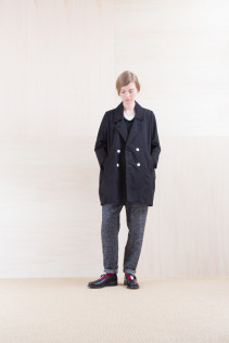 Coat_ NA15-J113 RDNCT 48,000yen+tax br; Cut&Sewn_ NA15-T22 CPT-L 9,000yen+tax br; Cut&Sewn_ NA15-T52 BRRT 10,500yen+tax br; Pants_ NA15-P122 LSPT 24,500yen+tax br; Sox_ FA15042 LANA02 3,300yen+tax br; Shoes_ FA15062 ORDINARIA NOBLE 59,000yen+tax