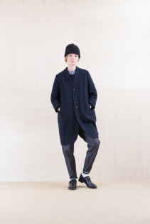 Cap_ NA15-K205 SBCP 10,000yen+tax br; Coat_ NA15-J192 BSJK 49,000yen+tax br; Sweater_ NA15-K202 SBTK 35,500yen+tax br; Shirts_ NA15-S12 JMSH 18,000yen+tax br; Denim_ FA15011 DUN-I 19,500yen+tax br; Sox_ FA15041 LANA01 3,300yen+tax br; Shoes_ FA15062 ORDINARIA NOBLE 59,000yen+tax