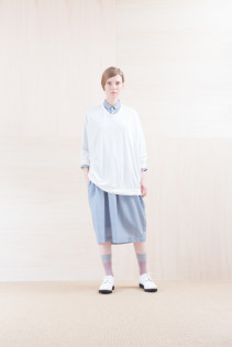 Cut&Sewn_ NA15-T21 CPT144 11,000yen+tax br; Dress_ NA15-O31 JSGOP 28,000 yen+tax br; Sox_ FA15045 OBLIQUE 2,200yen+tax br; Shoes_ FA15071 AGGRESSIA DURA-L 44,000yen+tax