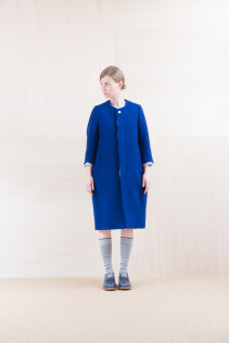 Coat_ NA15-C221 BSCT 64,000yen+tax br; Dress_ NA15-O33 FSOP 24,500yen+tax br; Shirts_ NA15-S12 JMSH 18,000yen+tax br; Sox_ FA15041 LANA01 3,300yen+tax br; Shoes_ FA15061 ORDINARIA DURA-L 59,000yen+tax