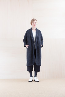 Coat_ NA15-C191 OHMCT 48,000yen+tax br; Cut&Sewn_ NA15-T52 BRRT 10,500yen+tax br; Pants_ NA15-P72 GMSL 24,000yen+tax br; Sox_ FA15041 LANA01 3,300yen+tax br; Shoes_ FA15071 AGGRESSIA DURA-L 44,000yen+tax