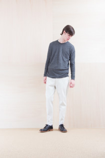 Cut&Sewn_ NA15-T58 BROT-M 11,500yen+tax br; Denim_ FA15013 DUN-W 19,500yen+tax br; Shoes_ FA15056 REGALIA DURA-M 98,000yen+tax