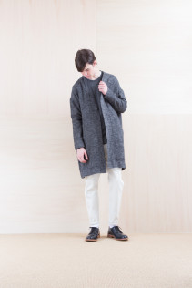 Coat_ NA15-C121 VNCT 38,500yen+tax br; Cut&Sewn_ NA15-T58 BROT-M 11,500yen+tax br; Denim_ FA15013 DUN-W 19,500yen+tax br; Shoes_ FA15056 REGALIA DURA-M 98,000yen+tax