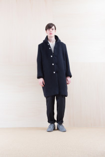 Coat_ NA15-C236 FBCT-M 59,500yen+tax br; Pants_ FA15021 LAT 19,500yen+tax