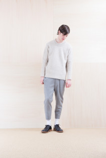Sweater_ NA15-K202 SBTK 35,500yen+tax br; Pants_ NA15-P131 SLSL 23,500yen+tax br; Shoes_ FA15056 REGALIA DURA-M 98,000yen+tax