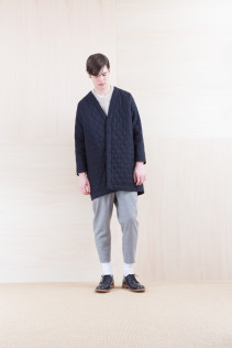 Coat_ NA15-C181 QVNCT 48,000yen+tax br; Sweater_ NA15-K202 SBTK 35,500yen+tax br; Pants_ NA15-P131 SLSL 23,500yen+tax br; Shoes_ FA15056 REGALIA DURA-M 98,000yen+tax