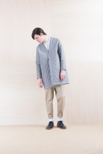Coat_ NA15_C181 QVNCT 48,000yen+tax br; Cut&sewn_ NA15-T108 WTOT 16,500yen+tax br; Pants_NA15-P142 CSSL 21,000yen+tax br; Shoes_ FA15056 REGALIA DURA-M 98,000yen+tax