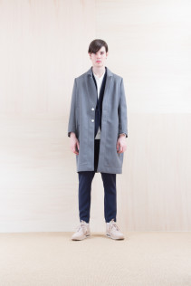 Coat_ NA15-C218 CECT-M 59,500yen+tax br; Jacket_ NA15-J100 VTJK 38,000yen+tax br; Cut&Sewn_ FA15036 ELEM T_M 12,000yen+tax br; Pants_ NA15-P91 SLMPT 21,500yen+tax