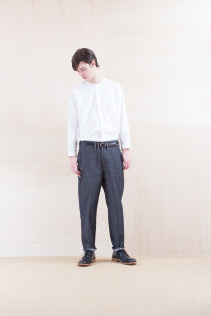 Shirts_ NA15-S17 KMSH 19,000yen+tax br; Denim_ FA15012 DIK-I 19,500yen+tax br; Belt_ FA15092 GRACILIA 13 COPPER 6,500yen+tax br; Shoes_ FA15056 REGALIA DURA-M 98,000yen+tax