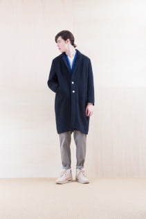 Coat_ NA15-C196 CECT 52,000yen+tax br; Jacket_ NA15-J118 WTDJK 46,000yen+tax br; Cut&Sewn_ FA15036 ELEM T-M 12,000yen+tax br; Pants_ FA15022 LAS 19,500yen+tax