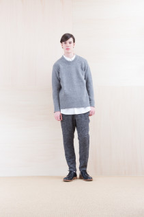 Sweater_ NA15-K202 SBTK 35,500yen+tax br; Shirts_ NA15-S16 WDSH 19,500yen+tax br; Pants_ NA15-P122 LSPT 24,500yen+tax br; Shoes_ FA15056 REGALIA DURA-M 98,000yen+tax