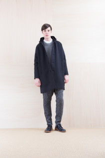 Coat_ NA15-C217 MFDCT 59,500yen+tax br; Sweater_ NA15-K202 SBTK 35,500yen+tax br; Shirts_ NA15-S16 WDSH 19,500yen+tax br; Pants_ NA15-P122 LSPT 24,500yen+tax br; Shoes_ FA15086 SIMPLICIA DURA-M 48,000yen+tax