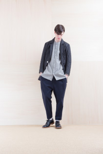 Jacket_ NA15-J187 CEJK-M 58,500yen+tax br; Shirts_ NA15-S67 LMKSH 24,500yen+tax br; Pants_ NA15-P41 YGPT 21,500yen+tax br; Shoes_ FA15056 REGALIA DURA-M 98,000yen+tax