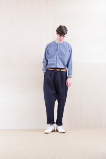 Shirts_ NA15-S17 KMSH 19,000yen+tax br; Pants_ NA15-P211 SBCN 32,000yen+tax br; Belt_ FA15092 GRACILIA 13 COPPER 6,500yen+tax br; Shoes_ FA15086 SIMPLICIA DURA-M 48,000yen+tax