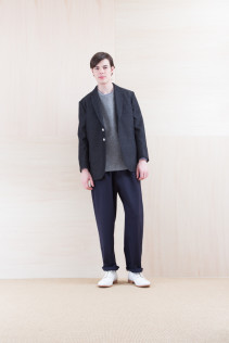 Jacket_ NA15-J158 TRDJK 49,000yen+tax br; KnitVest_ NA15-K201 SBKV 27,000yen+tax br; Shirts_ NA15-S17 KMSH 19,000yen+tax br; Pants_ NA15-P211 SBCN 32,000yen+tax br; Shoes_ FA15086 SIMPLICIA DURA-M 48,000yen+tax