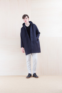 Coat_ NA15-C217 MFDCT 59,500yen+tax br; Cut&Sewn_ NA15-T21 CPT144 11,000yen+tax br; Cut&Sewn_ FA15036 ELEM T-M 12,000yen+tax br; Pants_ NA15-P101 WTPT 24,500yen+tax br; Shoes_ FA15056 REGALIA DURA-M 98,000yen+tax