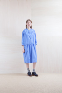 Dress_ S15-O151 JMGOP 29,500yen+tax br; Sox_ S15-SO252 Linen rib sox 2,350yen+tax br; Shoes_ prototype