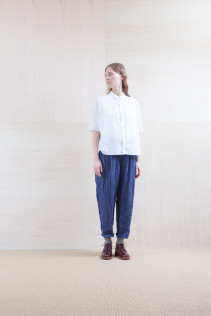 Shirts_ S15-S172 DOSH 18,500yen+tax br; Pants_ S15-P131 WEPT 24,000yen+tax br; Sox_ S15-SO252 Linen rib sox 2,350yen+tax br; Shoes_ prototype