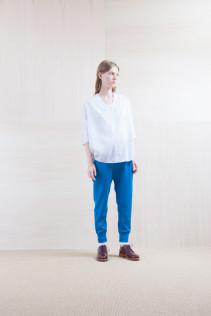 Shirts_ S15-S224 DPO7 14,500yen+tax br; Pants_ S15-P121 SWPT 19,500yen+tax br; Sox_ S15-SO252 Linen rib sox 2,350yen+tax br; Shoes_ prototype