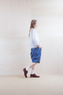 Shirts_ S15-S32 JMSH 18,000yen+tax br; Pants_ S15-P12 SRSL 18,500yen+tax br; Sox_ S15-SO252 Linen rib sox 2,350yen+tax br; Shoes_ prototype