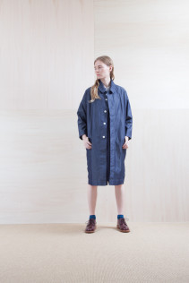 Coat_ S15-C84 TCCT 31,000yen+tax br; Dress_ S15-O94 POOP	 29,500yen+tax br; Shirts_ S15-S32 JMSH 18,000yen+tax br; Sox_ S15-SO251 Color heel sox 1,900yen+tax br; Shoes_ prototype