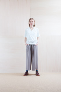 Cut&Sewn_ S15-T192 JSOT-5 6,900+tax br; Pants_ S15-P186 WDSL 22,000+tax br; Sox_ S15-SO251 Color heel sox 1,900yen+tax br; Shoes_ prototype