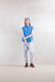Shirts_ S15-S173 FSSH 16,500yen+tax br; Pants_ S15-P82 CNSL 22,000yen+tax br; Sox_ S15-SO252 Linen rib sox 2,350yen+tax br; Shoes_ prototype