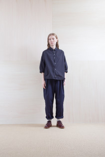 Shirts_ S15-S154 OSSH5 21,500yen+tax br; Pants_ S15-P211 CWPT 21,500yen+tax br; Sox_ S15-SO252 Linen rib sox 2,350yen+tax br; Shoes_ prototype