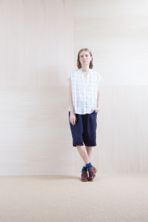 Shirts_ S15-S163 VFSH 16,000yen+tax br; Pants_ S15-P92 LSRSL 22,500yen+tax br; Sox_ S15-SO251 Color heel sox 1,900yen+tax br; Shoes_ prototype