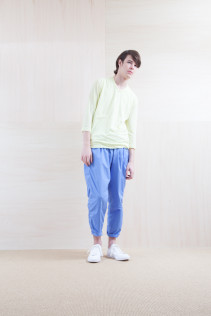 Cut&Sewn_ S15-T247 GZT-7 10,000yen+tax br; Pants_ S15-P155 BLSL 22,500yen+tax