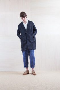Coat_ S15-C13 VNCT 34,000yen+tax br; Cut&Sewn_ S15-T48 115T2p 10,500yen+tax br; Pants_ S15-P131 WEPT 24,000yen+tax