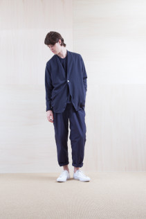 Cardigan_ S15-T106 PTCD-M 23,000yen+tax br; Cut&Sewn_ S15-T108 PTT-5 10,500yen+tax br; Pants_ S15-P211 CWPT 21,500yen+tax
