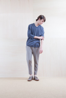 Cut&Sewn_ S15-T107 PTT-7 11,500yen+tax br; Pants_ S15-P185 SLMPT2 22,000+tax br; Shoes_ prototype