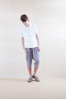 Cut&Sewn_ S15-T197 115T 7,200yen+tax br; Pants_ S15-P112 GMSL  22,000yen+tax br; Shoes_ prototype