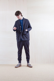 Coat_ S15-C156 WKCT 32,000yen+tax br; Shirts_ S15-S226 CCOSH 20,000yen+tax br; Pants_ S15-P121 SWPT 19,500yen+tax br; Shoes_ prototype