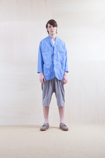 Coat_ S15-C156  WKCT 32,000yen+tax br; Pants_ S15-P112 GMSL 22,000yen+tax br; Shoes_ prototype
