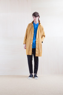 Coat_ S15-C83 FOCT 32,000yen+tax br; Shirts_ S15-S226 CCOSH 20,000yen+tax br; Pants_ S15-P185 SLMPT2 22,000yen+tax