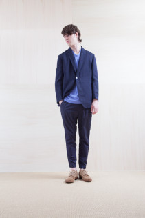 Jacket_ S15-J96 TRDJK-C 39,000yen+tax br; Cut&Sewn_ S15-T197 115T 7,200yen+tax br; Pants_ S15-P212 KNPT 21,000yen+tax